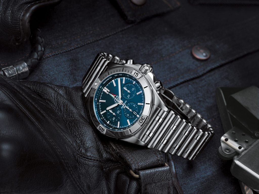 10 Chronomat B01 42 Frecce Tricolori Limited Edition With A Blue Dial And Tone On Tone Chronograph Counters 1024x768