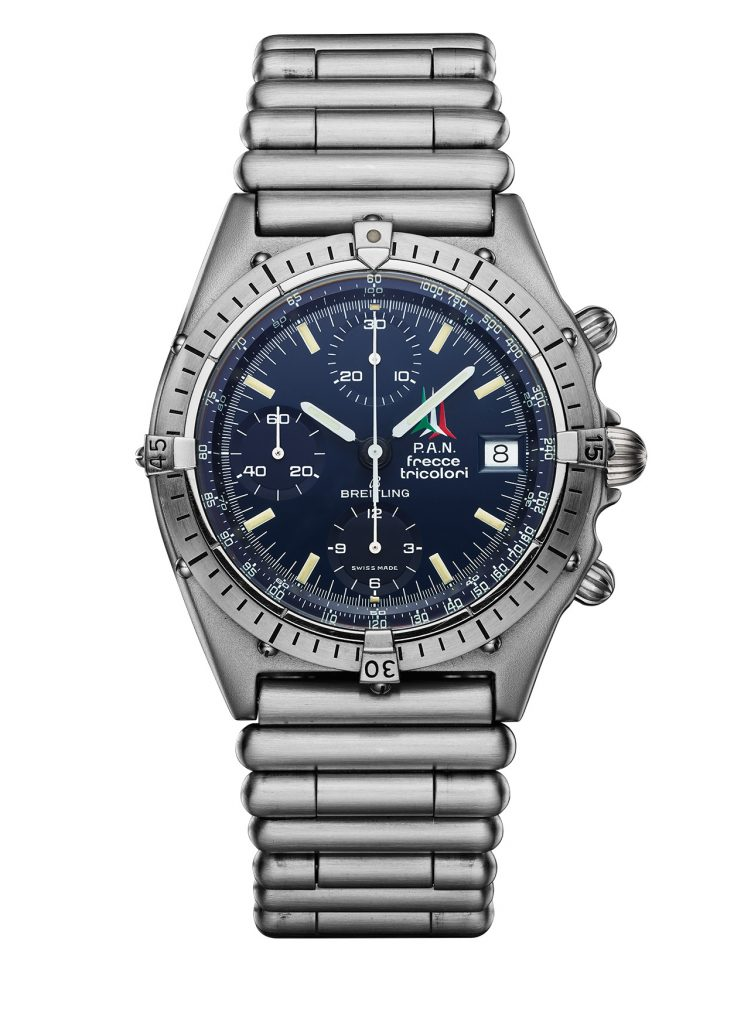 12 Breitling Frecce Tricolori Watch From 1983 That Inspired The Chronomats Introduced In 1984 To Celebrate Breitling S Centenary 751x1024