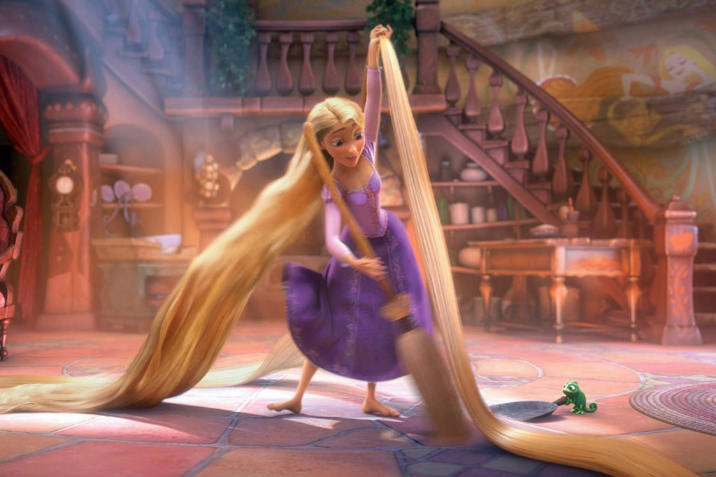 "Rapunzel in the Disney movie ""Tangled.""Walt Disney Co."