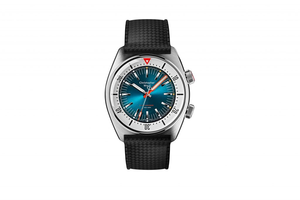 2020.06.29 CW 11263 Supercompressor2762 PICTURE 1 MAIN WATCH TEAL DIAL RUBBER BLACK STRAP 1024x683