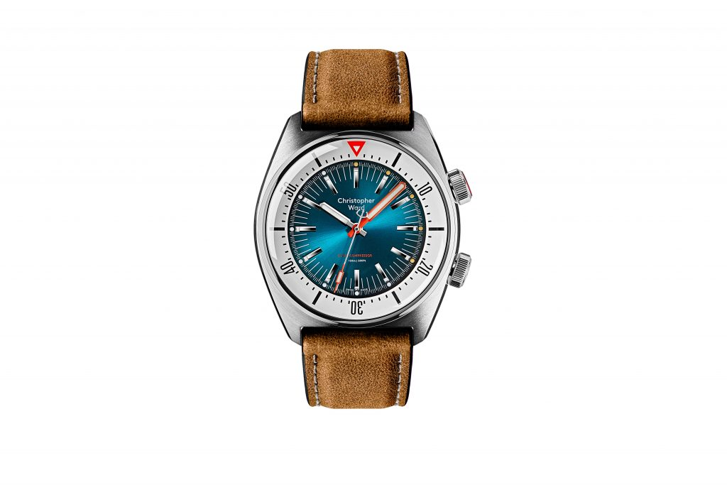 2020.06.29 CW 11263 Supercompressor2762 PICTURE 1 MAIN WATCH TEAL DIAL VINTAGE OAK STRAP 1024x683