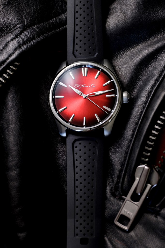 H. Moser Pioneer Swiss Mad Red Pioneer Centre Seconds Swiss Mad Red